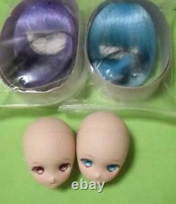 Dollfie Dream DDP colon ribbon head x 2 wig x 2 mint Volks #145