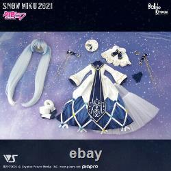 PSL Volks SNOW MIKU 2021 Glowing Snow DD Dollfie Dream dress set